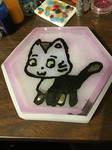 Resin Kitty Coaster