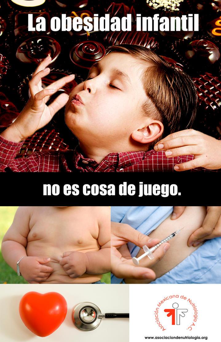 Cartel Protesta: Obesidad Infantil by SaraRC
