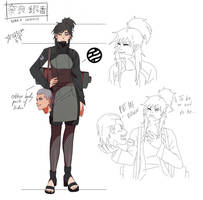 Ginkyo Nara - Naruto OC Reference Sheet by Xravas