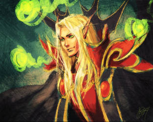WoW + kael'thas sunstrider by justduet