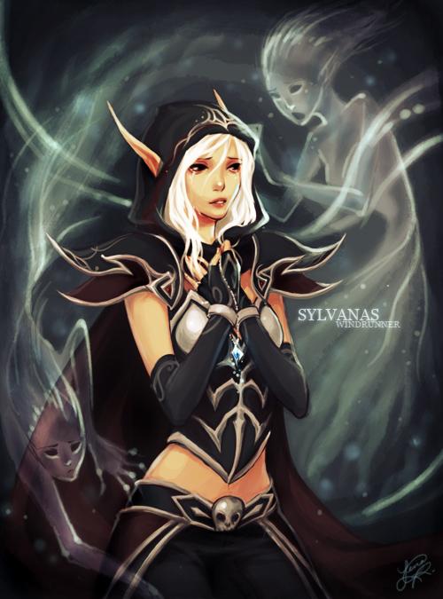 Por la espada de fuego WoW___lady_sylvanas_by_airuko