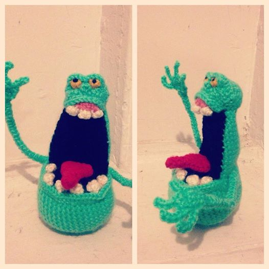 Ghostbusters Amigurumi Pattern : Crochet Slimer by erinshaine on DeviantArt