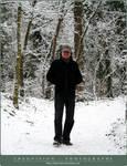 Artist in snow