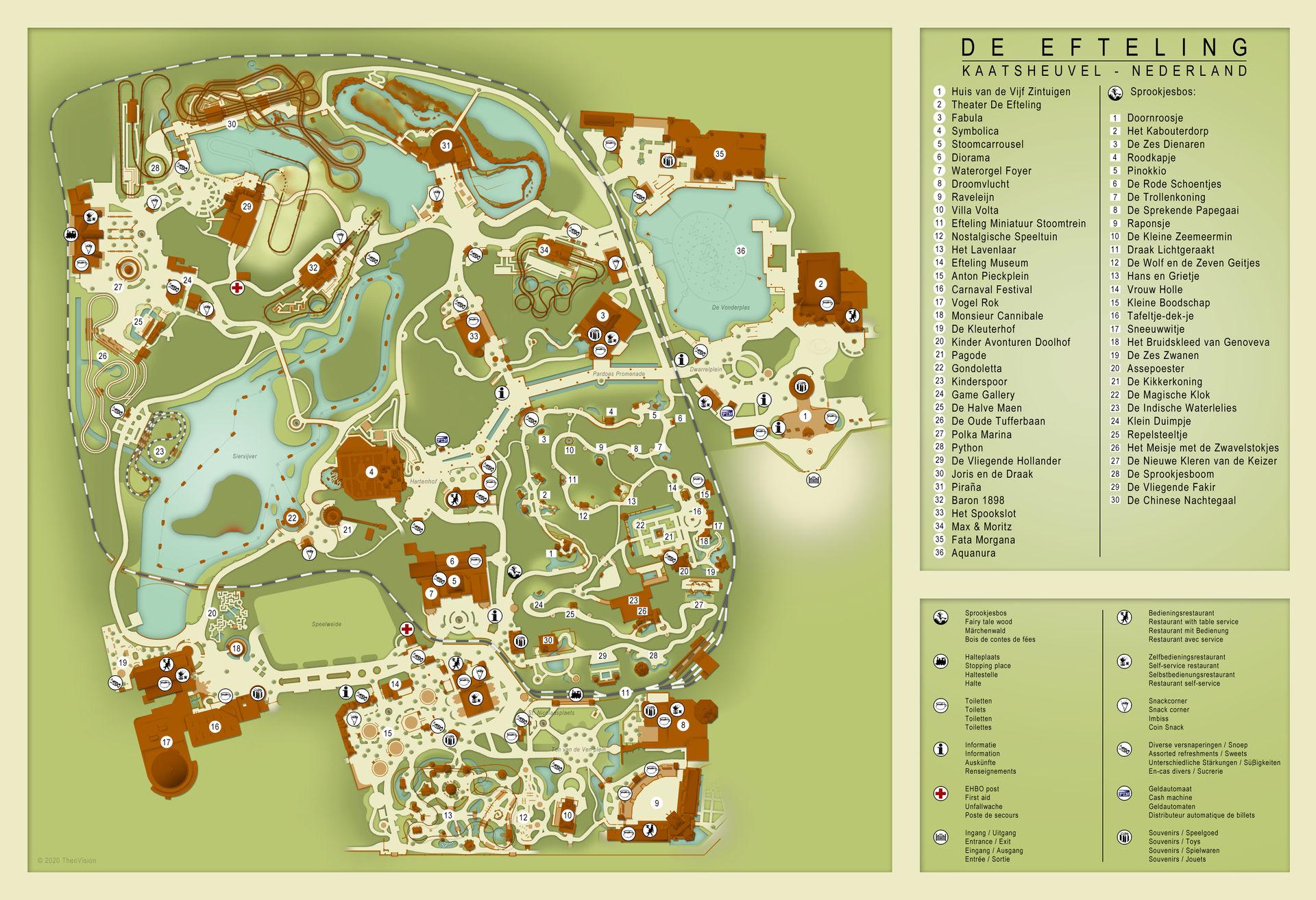 Efteling Map 2020