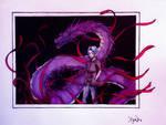 Purple dragon by Aki-Yoko