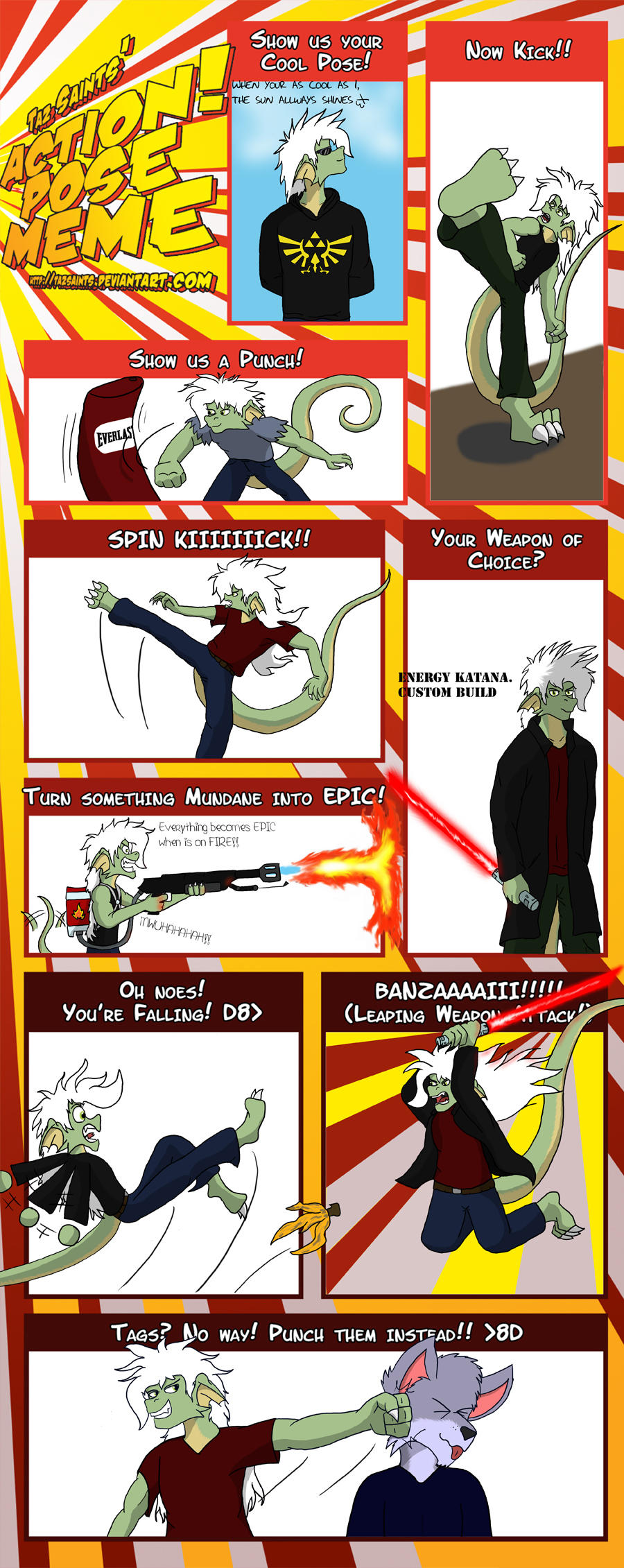 ACTION Pose Meme by Taz by Dragon-Furry