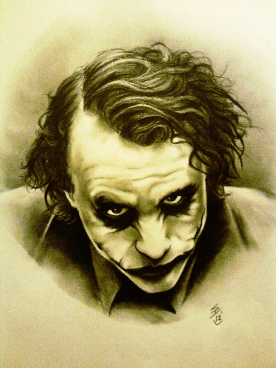 Heath Ledger / Joker by Hamdoggz