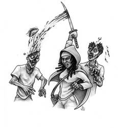Michonne In Action by Hamdoggz