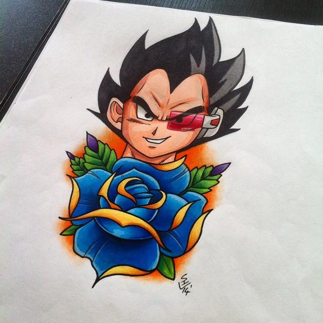 Vegeta Tattoo Design by Hamdoggz