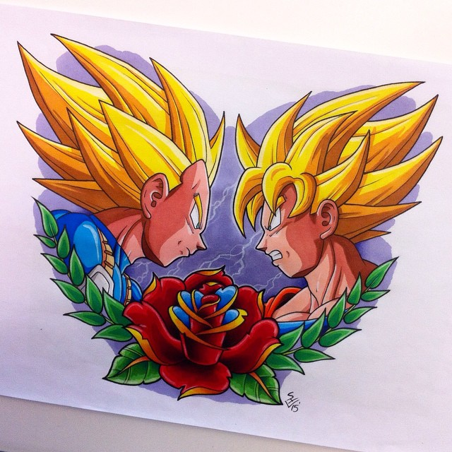 Gohan Tattoo Designs Vegeta Vs Goku Tattoo Design