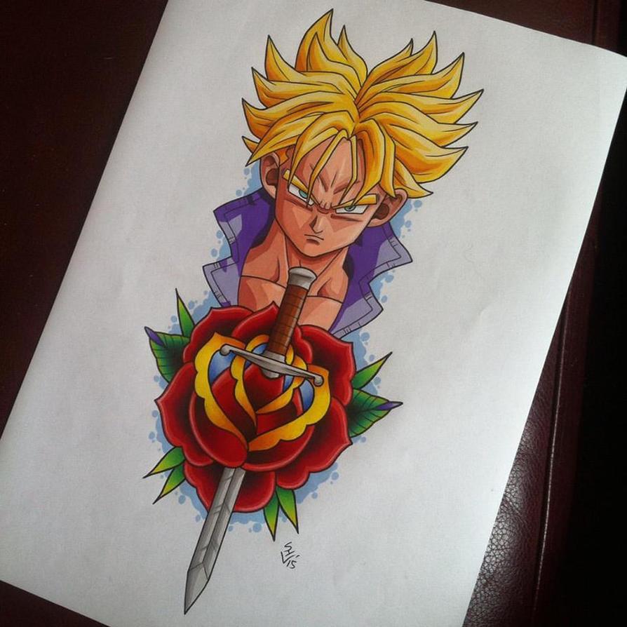 Future Trunks Tattoo Design by Hamdoggz