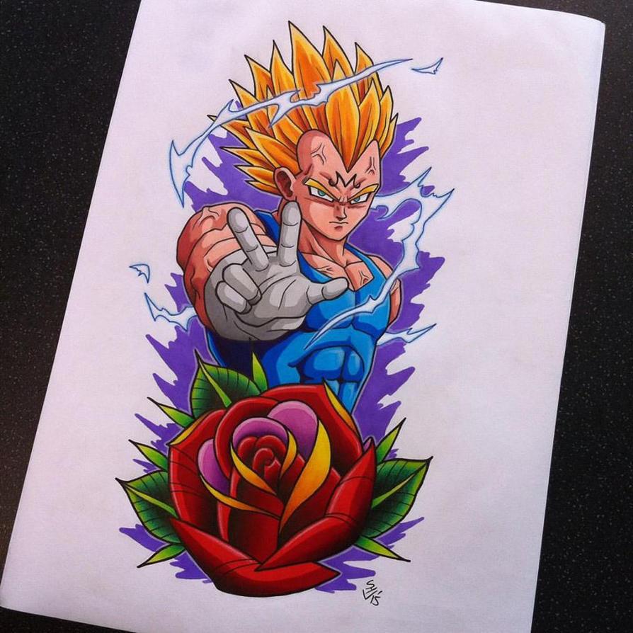 Majin Vegeta Tattoo Design by Hamdoggz