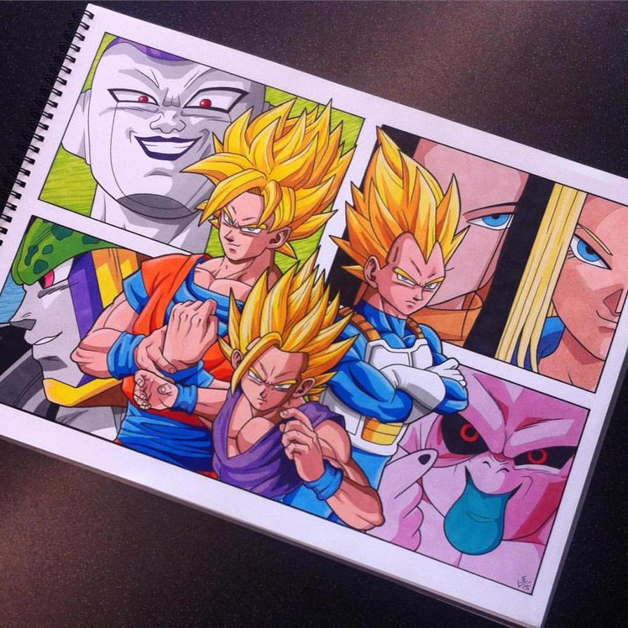 Dragon Ball Z Poster by Hamdoggz