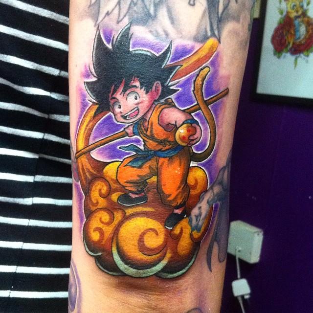 Kid Goku On Nimbus Tattoo By Hamdoggz On Deviantart
