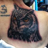 Owl Tattoo by Hamdoggz