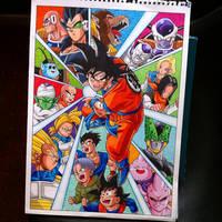 Goku Dragon Ball Z Poster by Hamdoggz