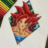 Super Saiyan God Goku Tattoo Design