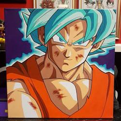 Ssj Blue Goku Painting
