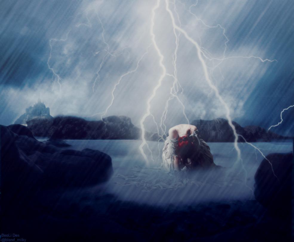 Girl in the rain-Manip