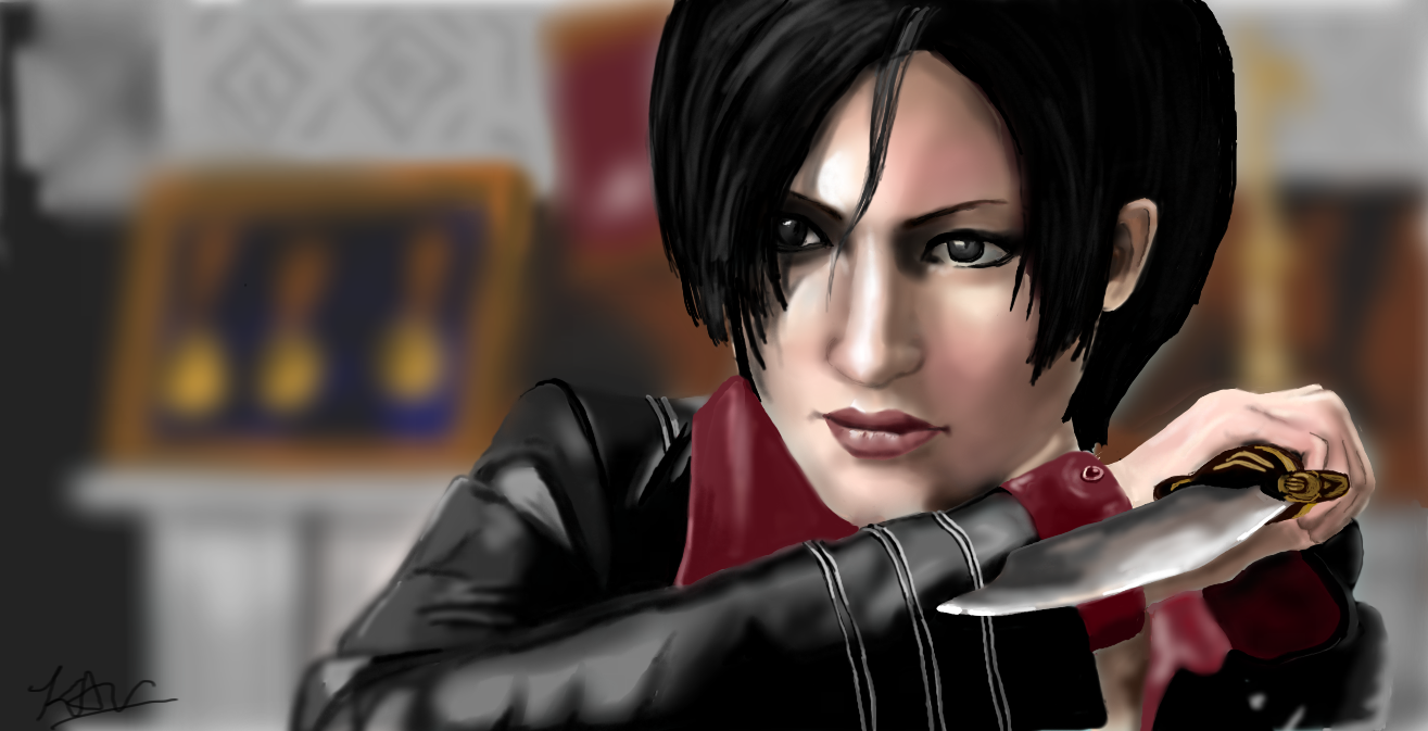ada wong from resident evil damnation by graphitemenagerie