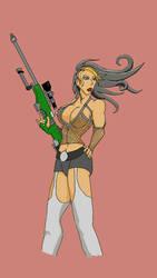 Sniper pinup  by D4rkSilver