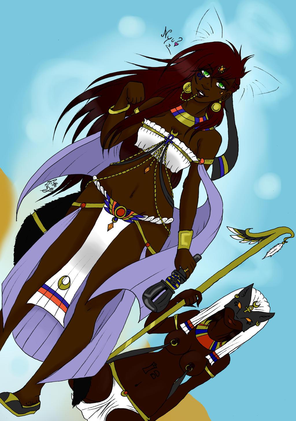 Bastet - Egyptian Goddess (KnA's fangame OD) by ALittleLady