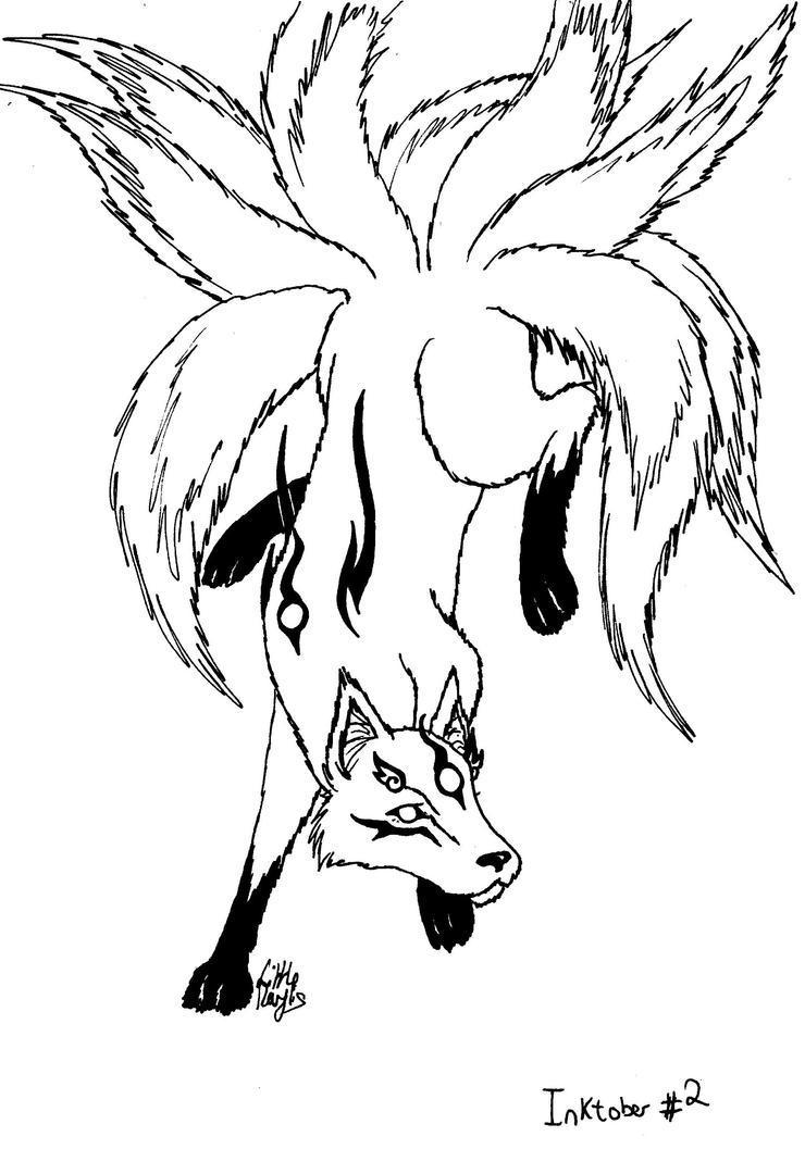 Inktober #2 - Kumiho by ALittleLady