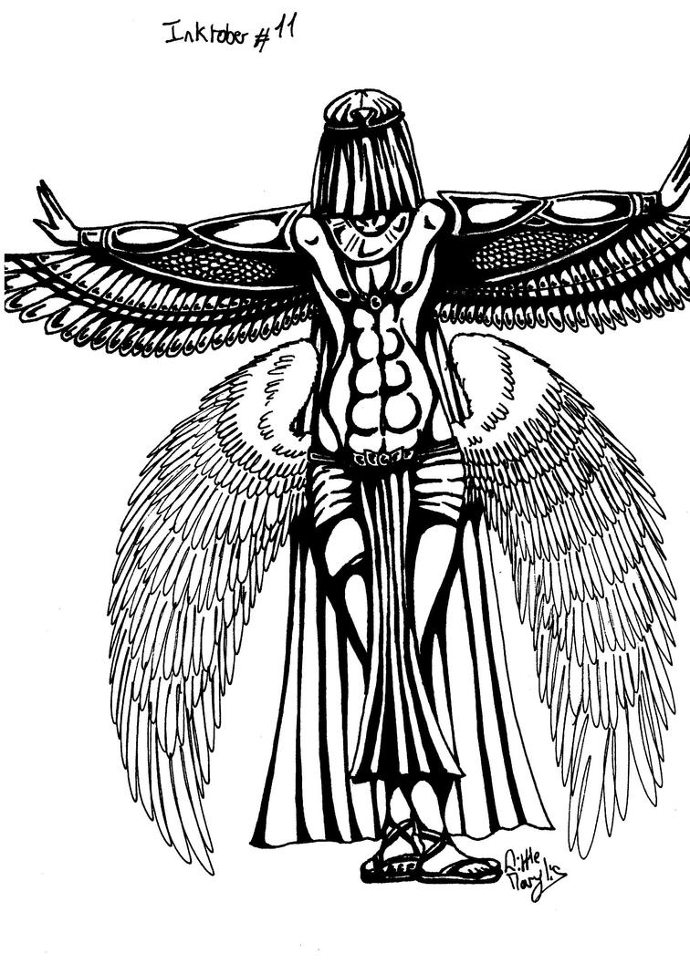 Inktober #11 - Angel's Isis by ALittleLady