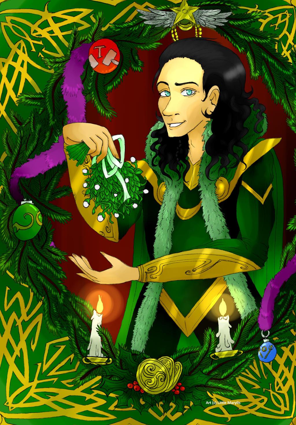 Loki - Happy Holidays Under A Mistletoe by ALittleLady