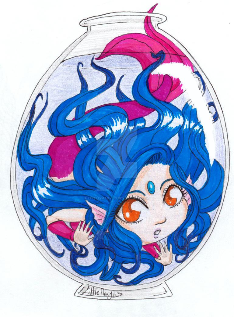 Mermaid! Neptune - Chibi OC by ALittleLady