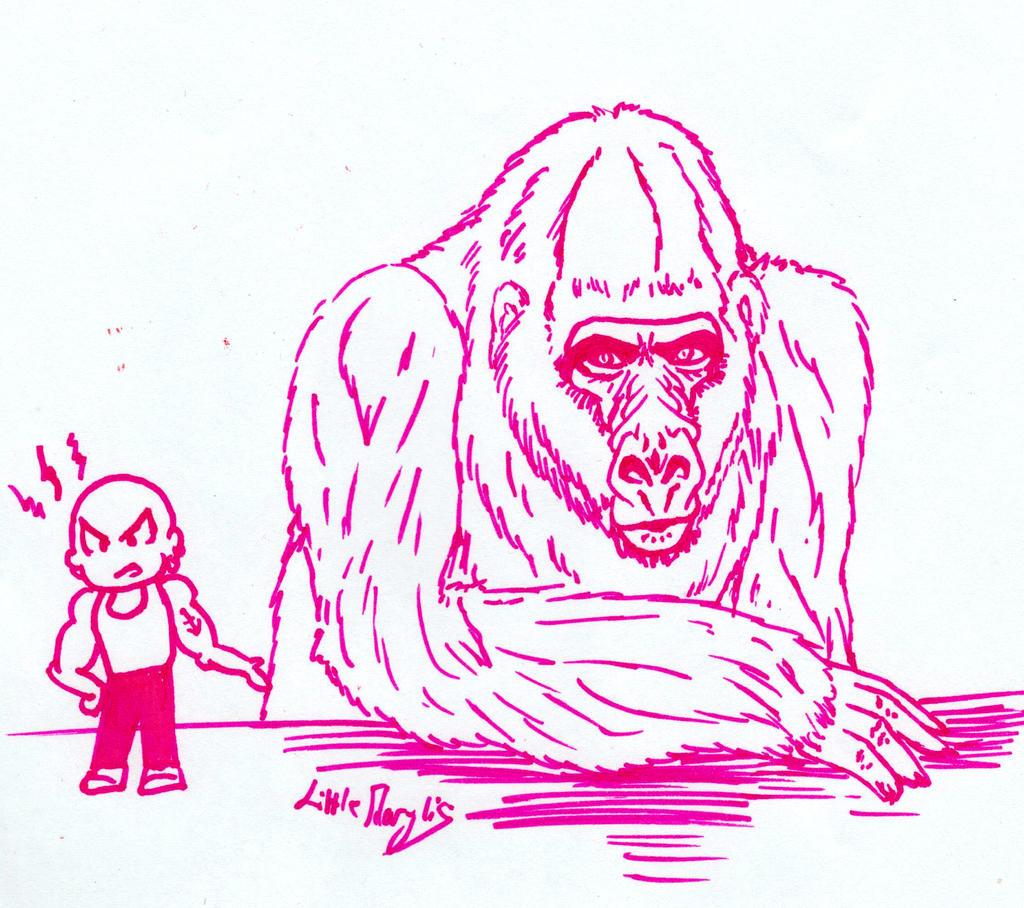 Challenge Day 01 - Gorilla by ALittleLady