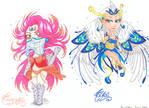 Eldarya Fanart - Familiers #1 (Chibis) by Little-Marylis