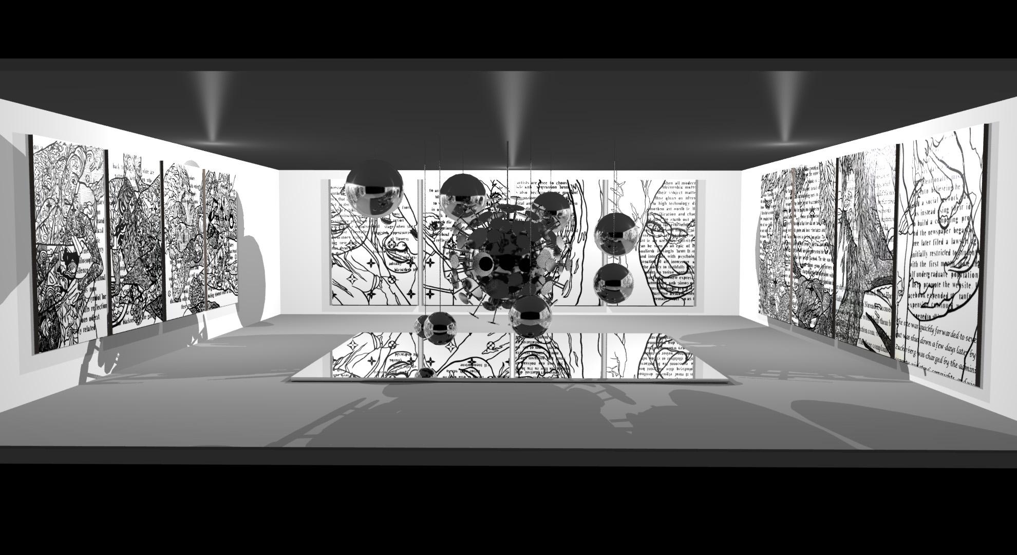D Rendering Exhibition : Art exhibition render by veskis on deviantart