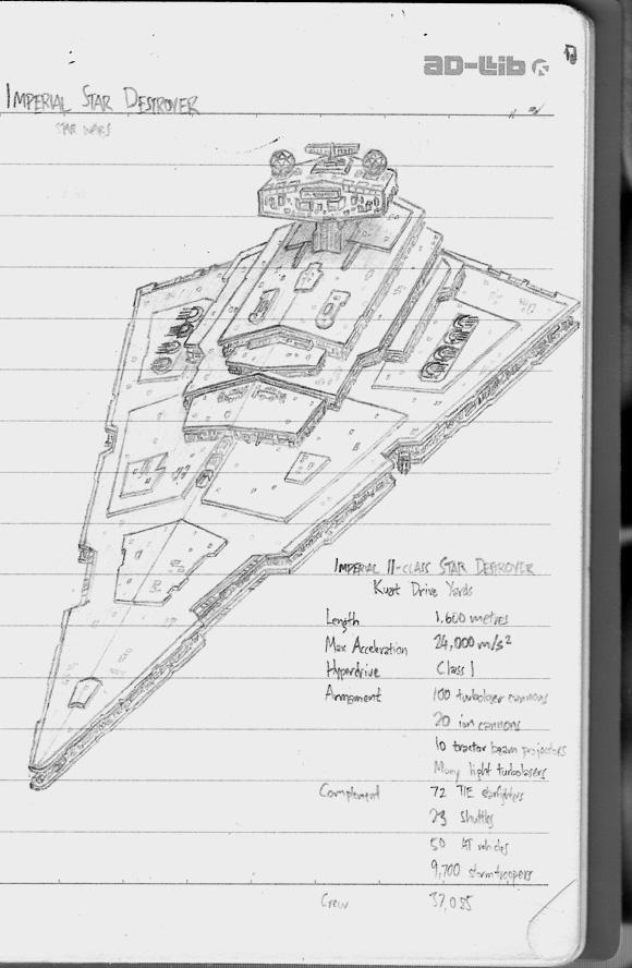 Star Destroyer Sketch By Veskis On Deviantart