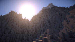 Minecraft Mountain View by AziasCreations