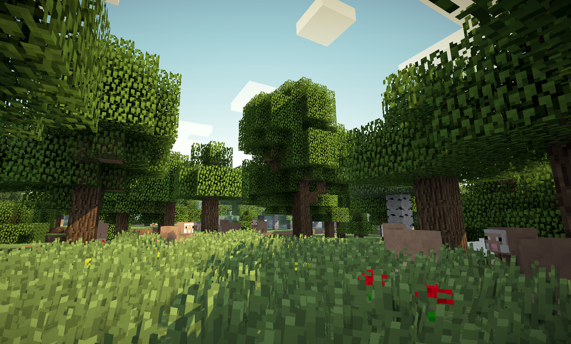 Wonderful Wallpaper Minecraft Forest - afternoon_forest_by_aziascreations-d6hy94h  2018_139337.png