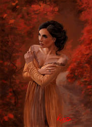 Mujer en el Bosque by kirocomic