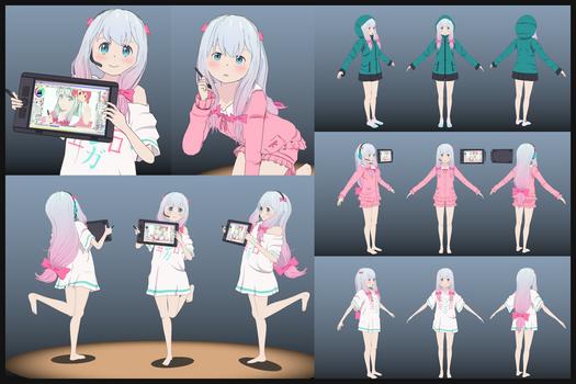 Sagiri Izumi - Fan Art 3D Model