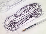 Ford Coupe Sketch