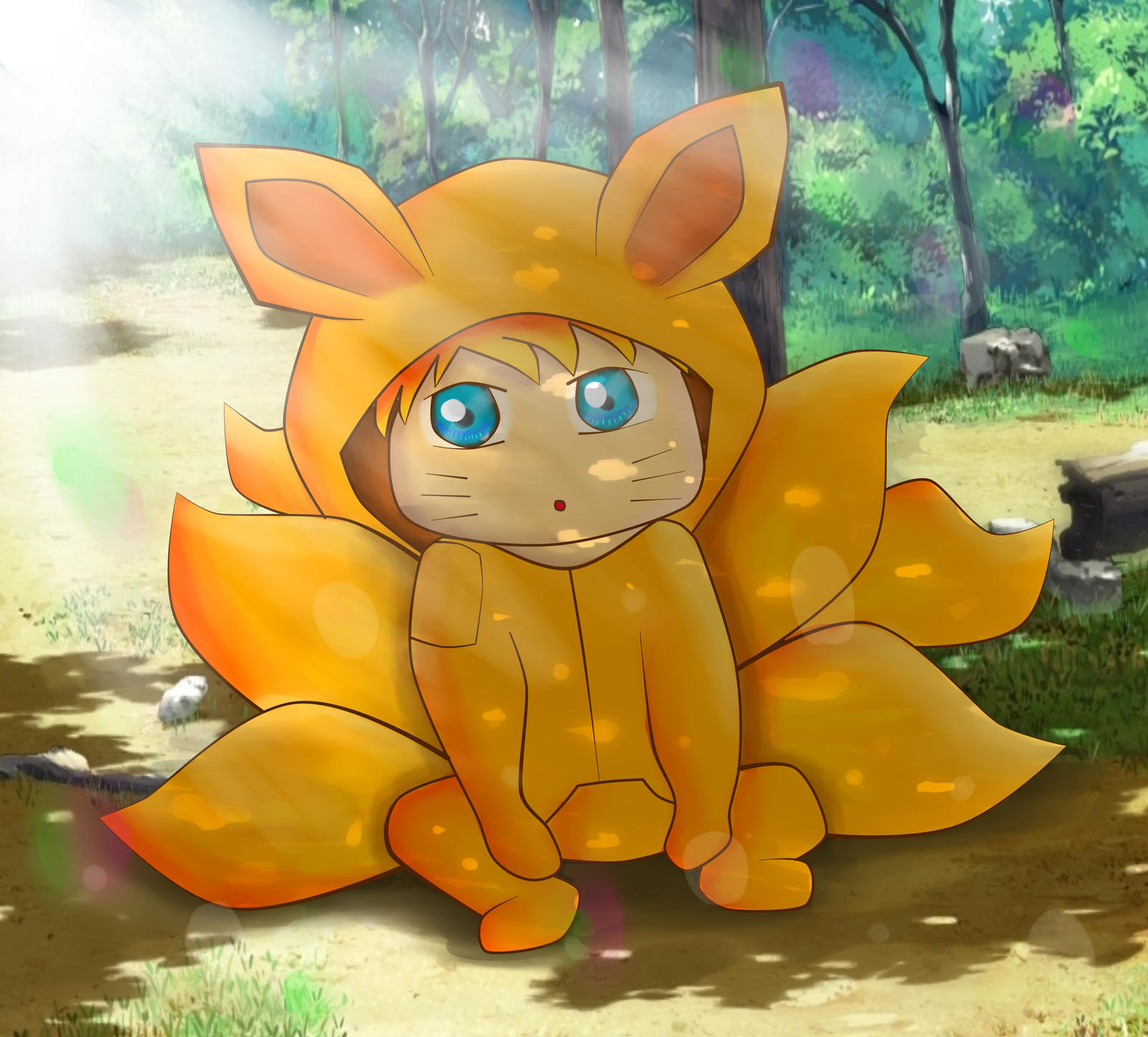 Baby Naruto in kigurumi by rorokata