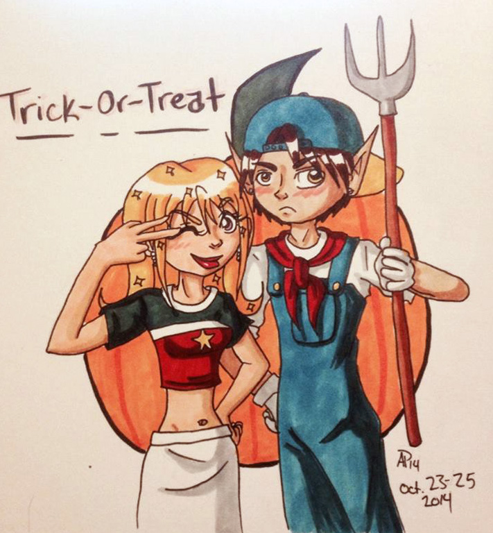 Inktober - Trick-or-Treat by Miss-Mae