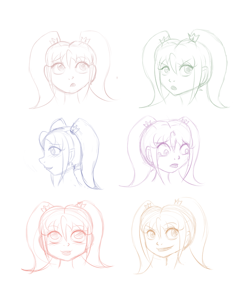 ABbiC - Facial Expression Sketches - C.C by Miss-Mae