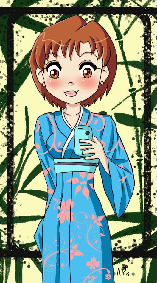 HM : Yukata Selfie by Miss-Mae