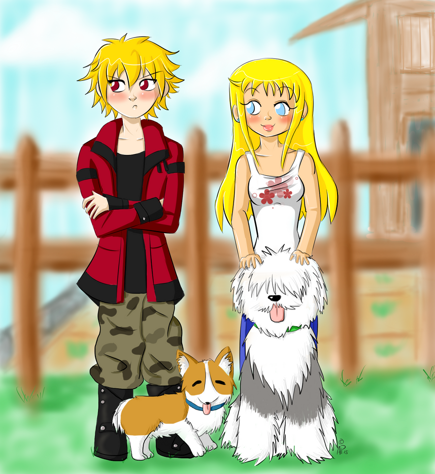 HM: Neil and Claire + Dogs by Miss-Mae