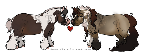 (Closed) Gypsy Vanner Chibis (Offer) by Stormy-Ways