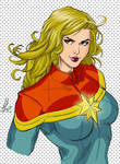 Captain Marvel by Marc F. Huizinga