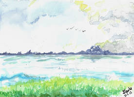 Watercolor seascape may thirteenth by SulaimanDoodle