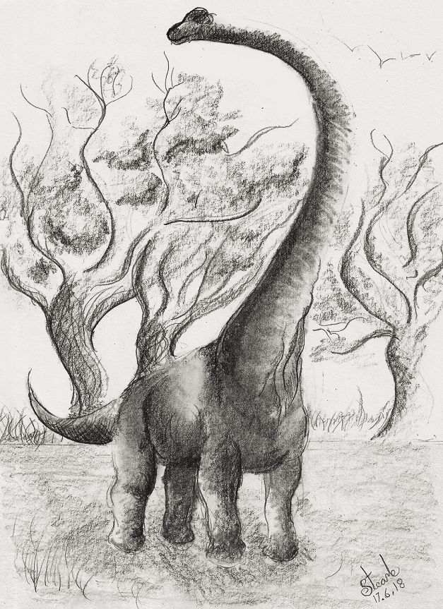 Young Mamenchisaurus by SulaimanDoodle