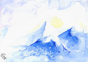 Watercolor mountain February