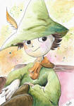Snufkin from the 90s Moomins TV show